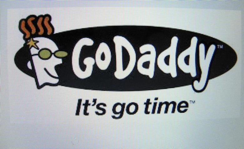 The GoDaddy inc. logo is shown on a computer screen in this illustration photo in Encinitas, California May 3, 2016.      REUTERS/Mike Blake