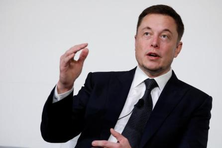 Elon Musk, founder, CEO and lead designer at SpaceX and co-founder of Tesla, speaks at the International Space Station Research and Development Conference in Washington, U.S.
