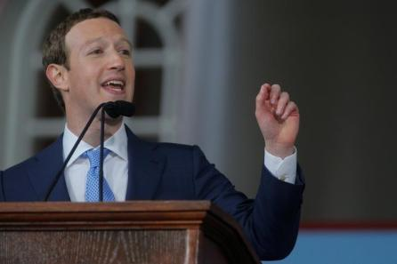 Facebook founder Mark Zuckerberg speaks during the Alumni Exercises following the 366th Commencement Exercises at Harvard University in Cambridge, Massachusetts, U.S.