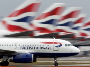 A British Airways plane is grounded on the tarmac following a security alert incident at the Charles de Gaulle airport, in Paris, France.