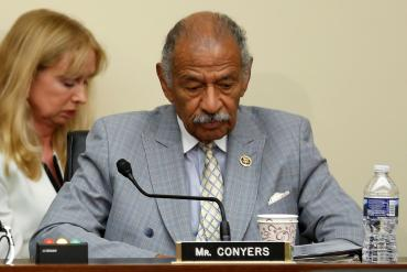 U.S. Representative John Conyers (D-MI) participates in a House Judiciary Committee hearing on Capitol Hill in Washington