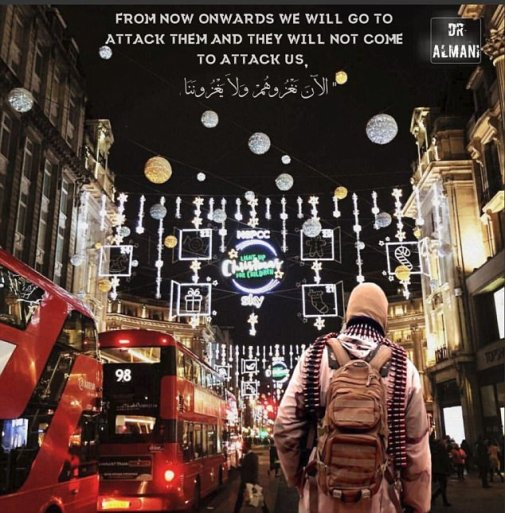 ISIS London Christmas Threat Poster
