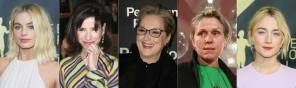 Nominees for the 90th Oscars, Best Actress Awards (L-R): Margot Robbie, Sally Hawkins, Meryl Streep, Frances McDormand and Saoirse Ronan