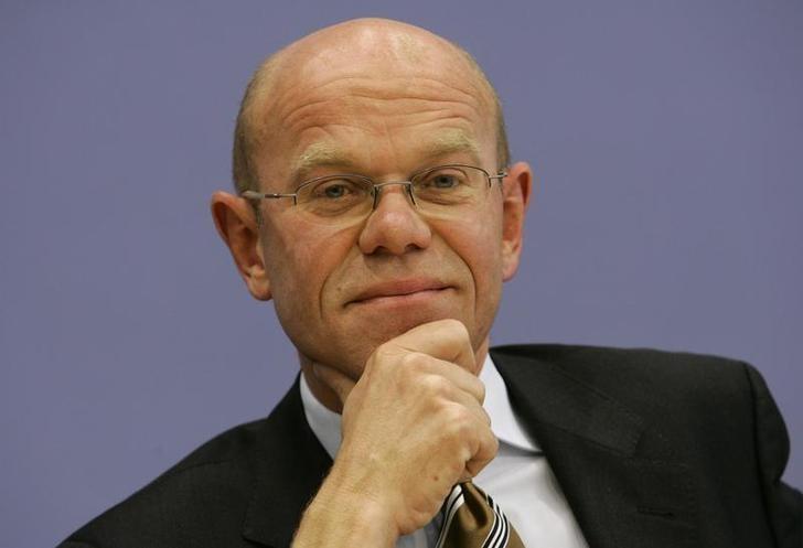 German deputy Governmental spokeman Thomas Steg addresses a news conference in Berlin