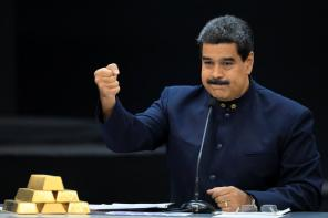 Venezuela's President Nicolas Maduro speaks during a meeting with the ministers responsible for the economic sector at Miraflores Palace in Caracas, Venezuela.