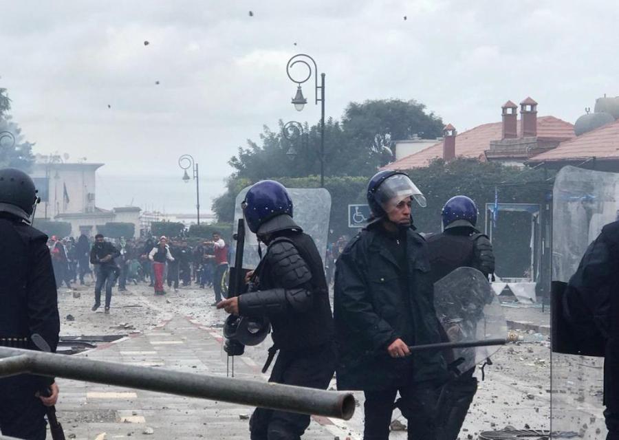 Algeria riot police