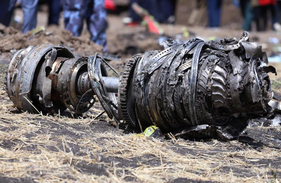 Crashed Ethiopia Airlines plane engine
