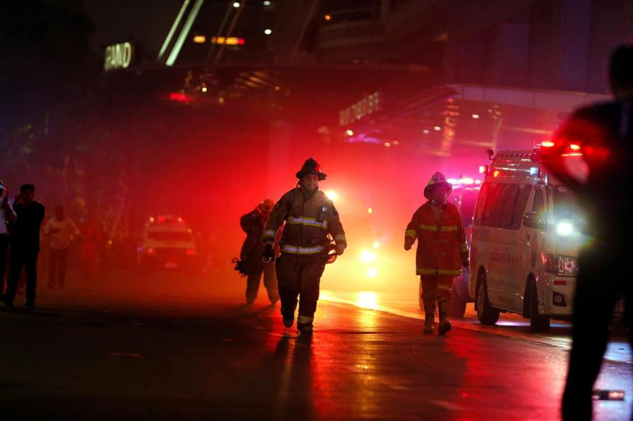 Bangkok shopping center fire