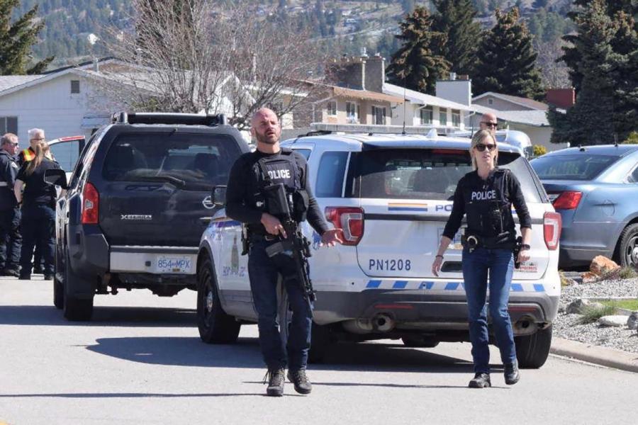 Canada shooting crime scene