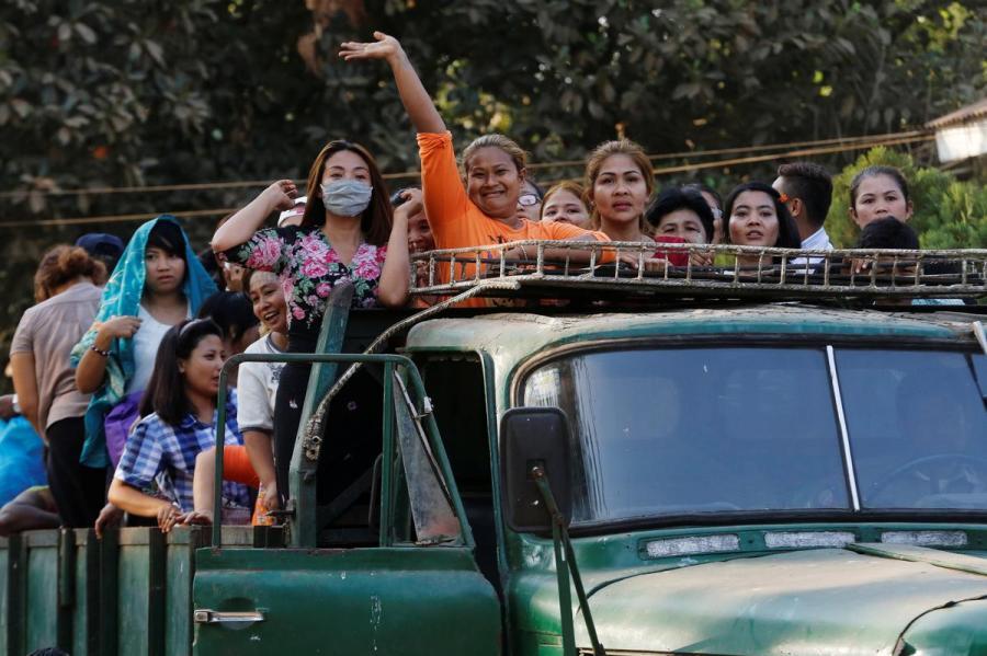 Released Myanmar prisoners