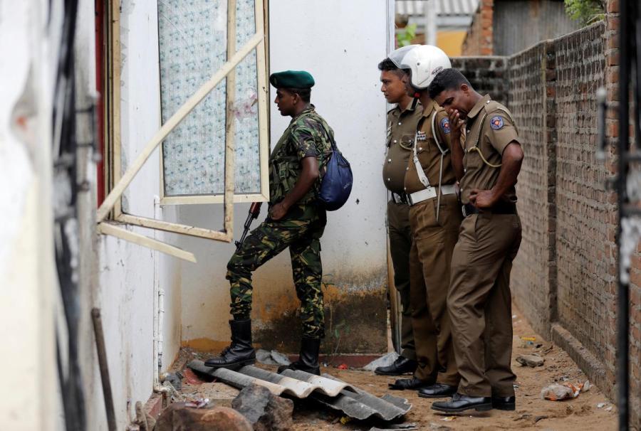 Sri Lanka security personnel