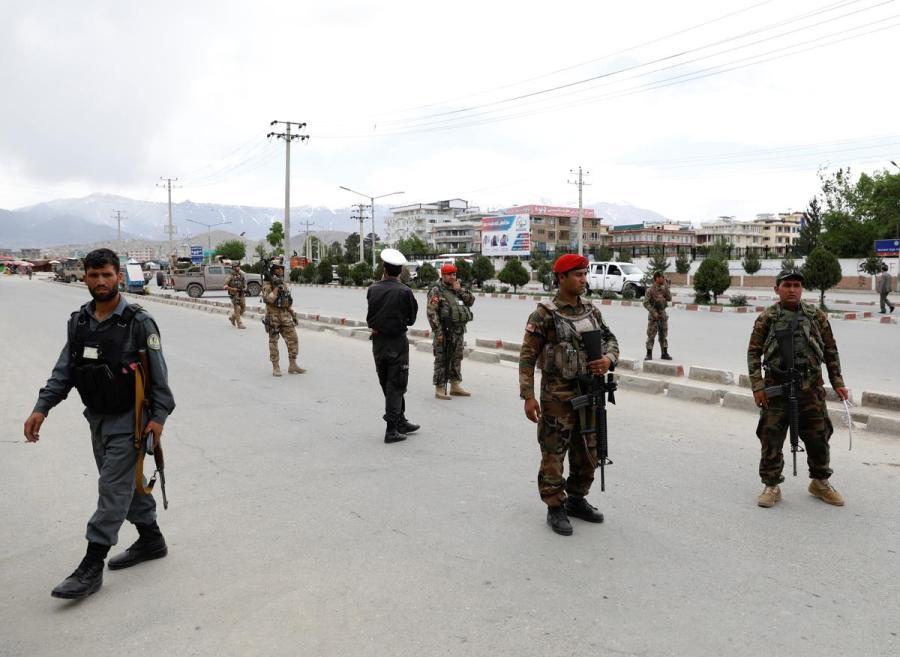 Afghan blast site