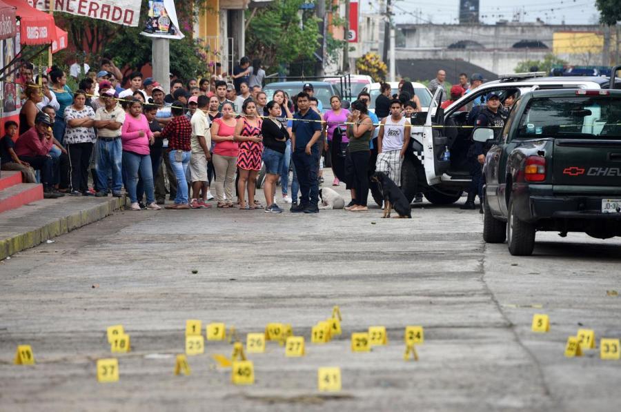 Mexican shooting crime scene