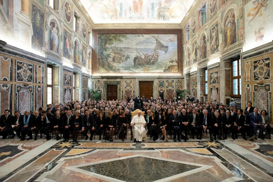 Pope Francis press meeting
