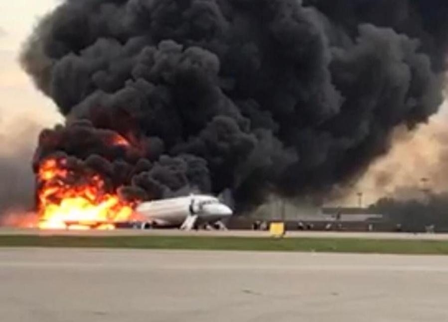 Russian Aeroflot fire