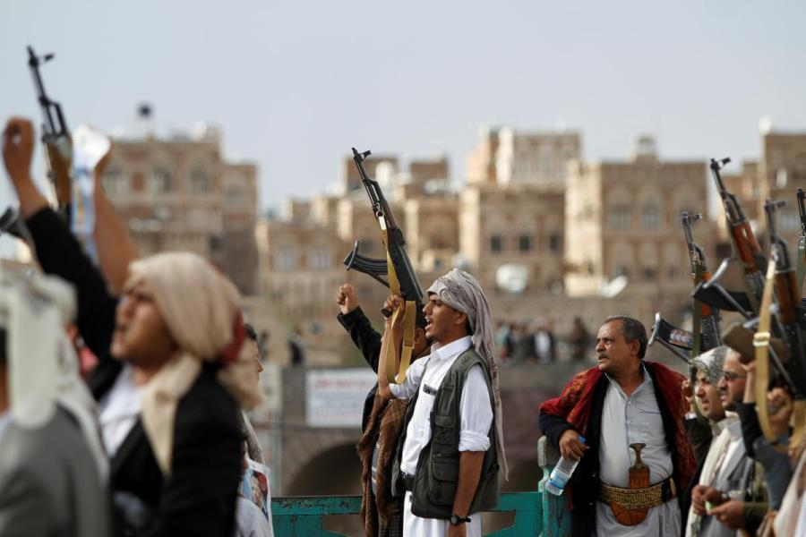 Yemen Houthi fighters