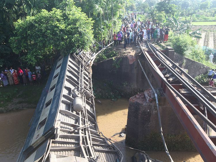 Bangladesh train derailment