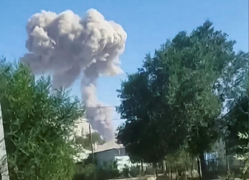 Kazahkstan muitions depot explosion