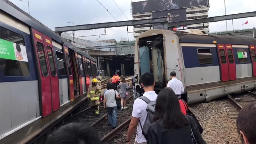 Hong Kong train derailment