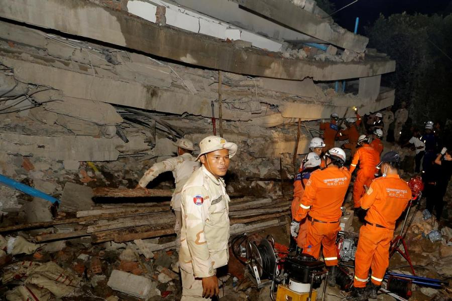 Cambodia building collapse1