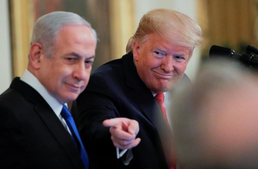 Donald Trump and Ben Netanyahu
