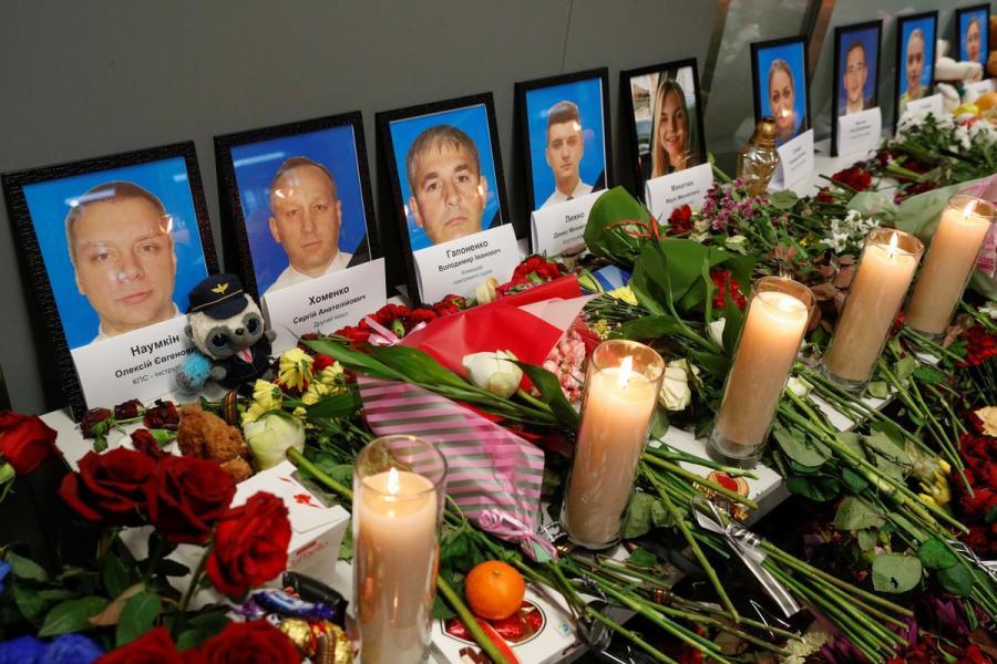 Ukraine plane crash tribute