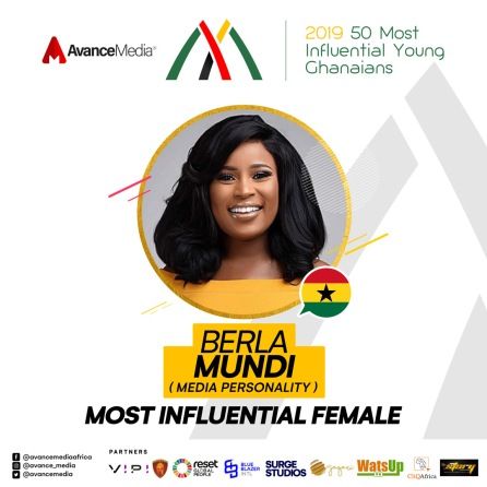 Most Influential Female - 2019 50 Most Influential Young Ghanaians