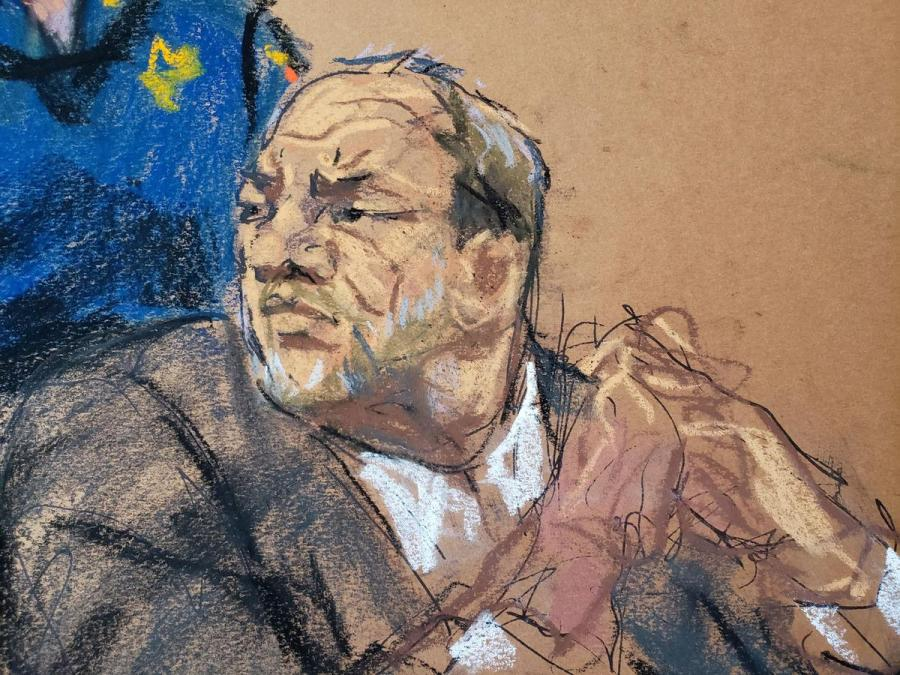 Harvey Weinstein court sketch