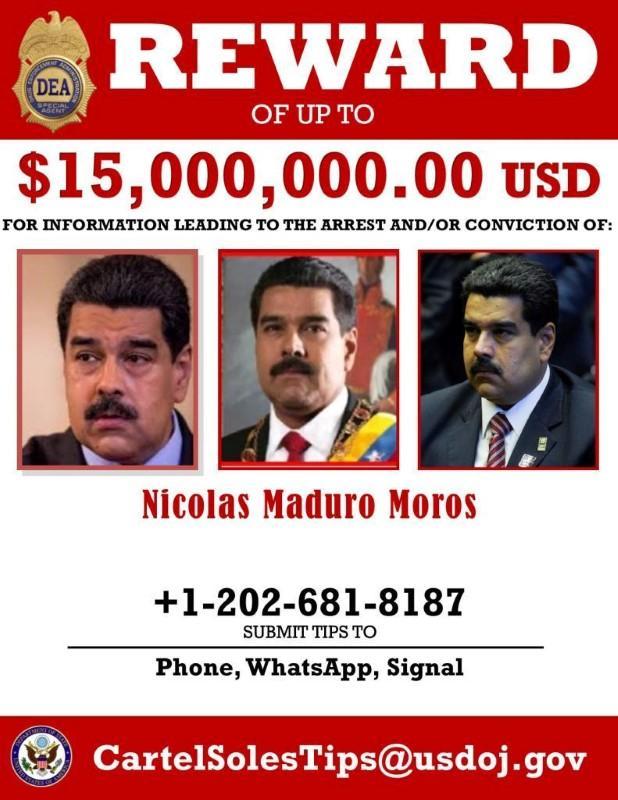 Maduro wanted poster