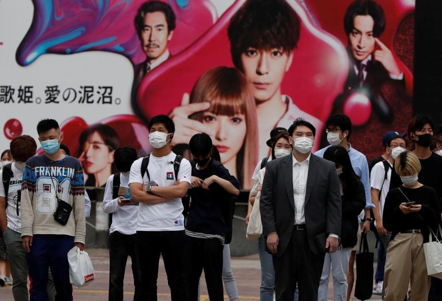 Japan face mask illustration2