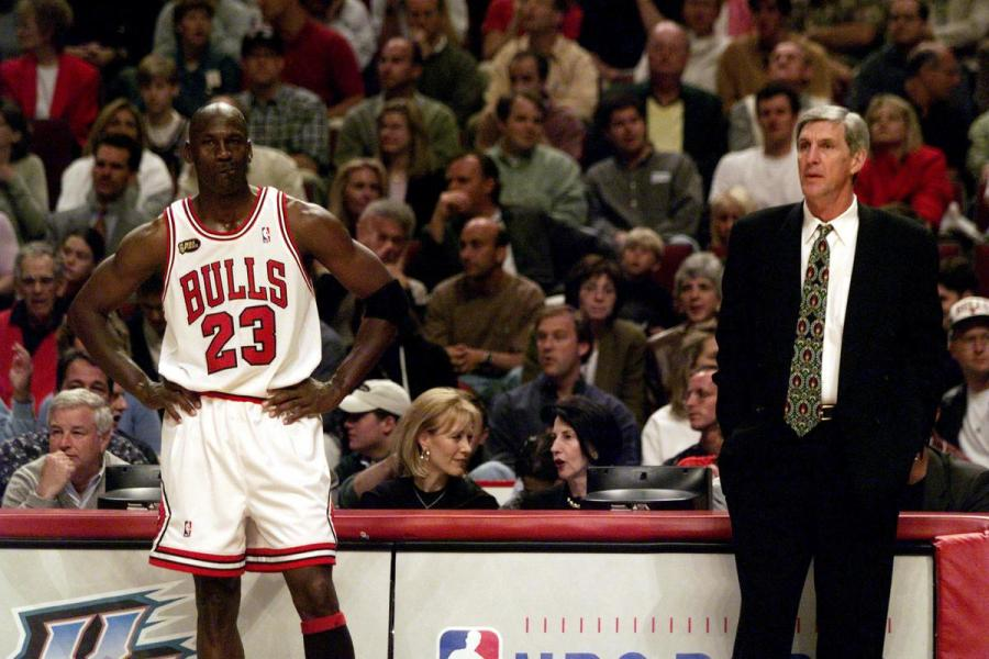 Michael Jordan and Jerry Sloan