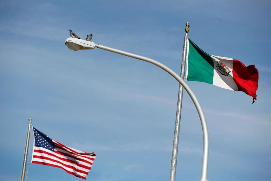 U.S. Mexico flags