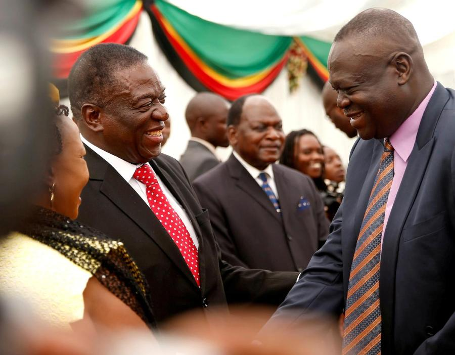 Emmerson Mnangagwa and Perence Shiri