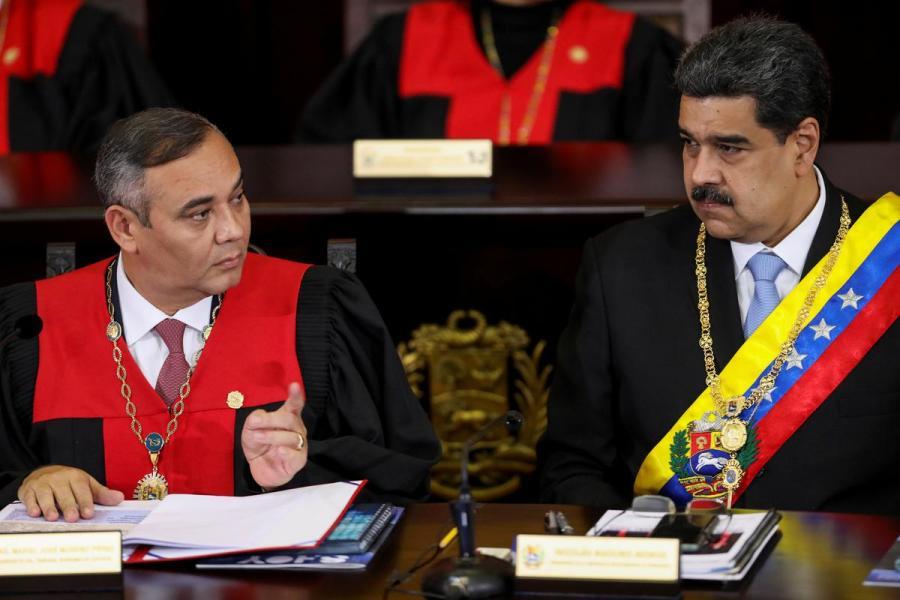 Nicolas Maduro and Maikel Moreno