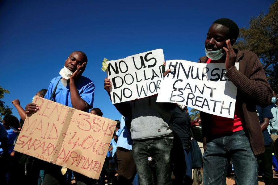 Zimbabwean nurses protest4