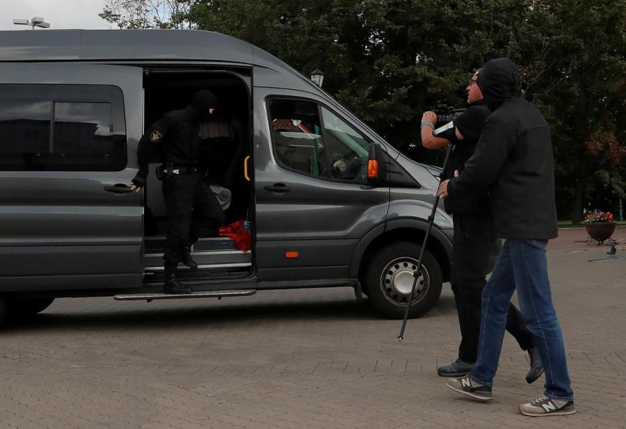 Belarus journalist detention