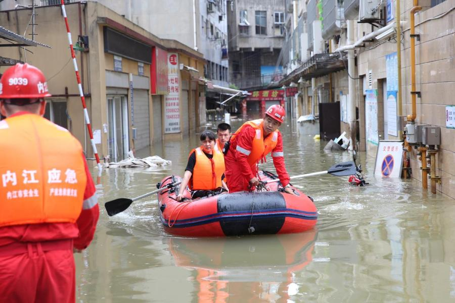China Neijiang evacuation