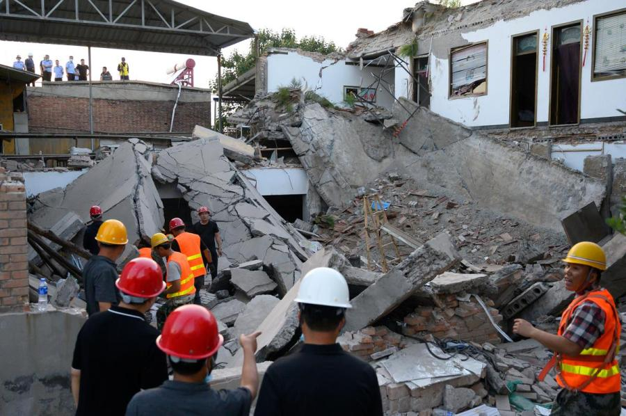 China restaurant collapse