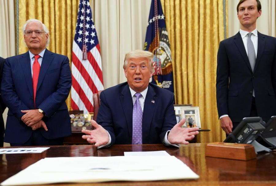 Donald Trump, Melech Friedman and Jared Kushner