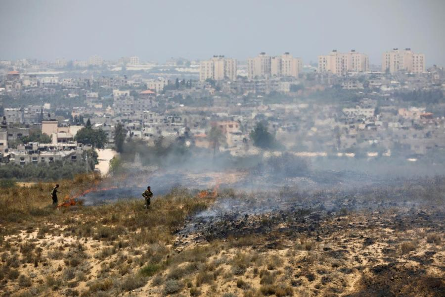 Israel border farm fire