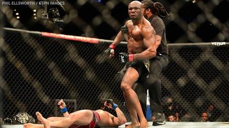 Kamaru Usman knocks out Jorge Masvidal during UFC 261 at VyStar Veterans Memorial Arena in Jacksonville, Florida, U.S.